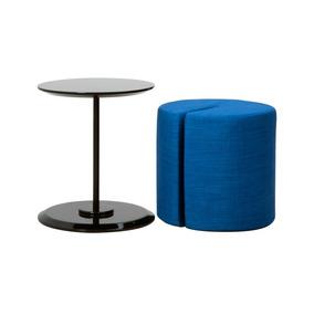 Puff Mesa Moderno Tapizado , Araña Azul