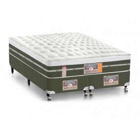 Cama Box Queen Castor | Colchão Ss Molas Bonnel Air+box Si