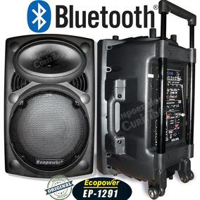 Caixa Ativa Ecopower Ep1291 350rms Bluetooth + 2 Mic + Frete