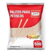 Palito  Para Hambúrguer Gourmet E Petiscos - 9cm - Com 500 U