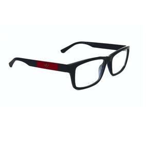 c030c14837f12 Armação Oculos Grau Atitude At4104 T01 Preto Brilho Vermelho