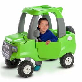 Auto Andador Camioneta Pick Up Verde Baul Rotoys En Smile