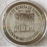 8 Reales Durango 1811-1985 Fachada Casa De Moneda Plateada