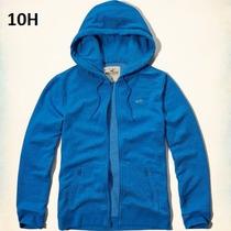 M- Chamarra Sudadera Hollister Azul Gorro Ropa 100% Original