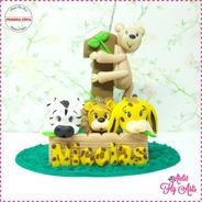 Vela Aniversario Mini Topo De Bolo  Biscuit Safari 2