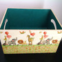 Caja Madera Pintada Porta Pañales Varios Modelos A Pedido