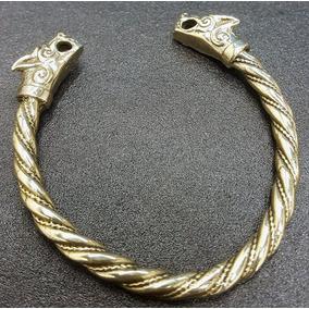 Brazalete Vikingo En Bronce Macizo Art 166
