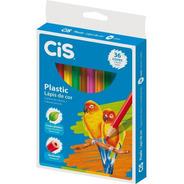 Lápis De Cor Cis Plastic 36 Cores Sextavado