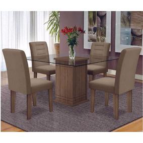 Mesa Vega Com 4 Cadeiras | Cacau