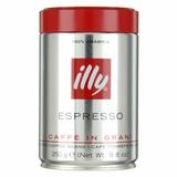 Café Illy Espresso Molido Lata De 250grs Envase Presurizado