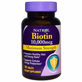 Biotina 10,000mcg 100 Cps Natrol Pronta Entrega