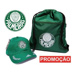 Bonés Palmeiras Aba Curva + Bolsa