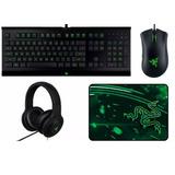 Combo Razer Gamer 4 En 1 Teclado, Mouse, Auricular, Pad Tcy