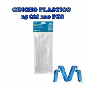 Cincho Plastico 18 Lb 15 Cm 100 Piezas Seguro