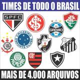 Adesivos Times Série - A, B, C, D - Tam. 40 Cm De Altura.