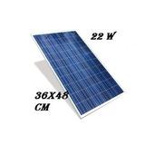 Painel Placa Célula Energia Solar Fotovoltaica 12v 22w Watts