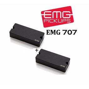 Set 2 Captadores Guitarra Emg 7 Cordas Emg 707 Original Usa