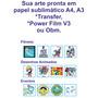 10 Estampas Prontas Já Impressas Em Papel Sublimatico A4 A3