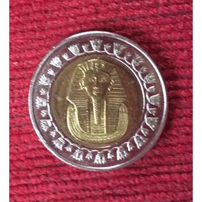 Moneda De 1 Pound Bimetalica-tutankamon