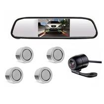 Kit Sensor De Estacionamento Camera De Re Espelho Retrovisor