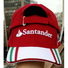 dceb87cc65892 Boné Santander Ferrari Vermelho Preto Branco