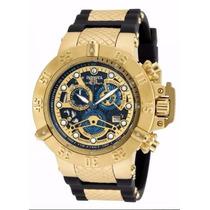 Relógio Invicta Subaqua Noma 3 Preto Dourado - 100% Original