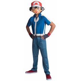 Disfraz Niño Pokemon Go Ash Ketchum Pikachu Con Mascara Xy