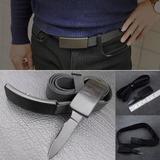 Cinto Tatico Canivete Com Faca Oculta Na Fivela Knife Belt