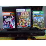 Sensor Kinect Xbox 360 Mas Tres Juegos, En Buen Estado