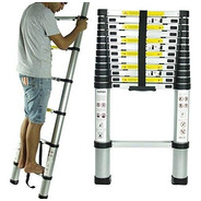 Escalera Telescópica Aluminio 9 Escalones 2.6m Kulbart