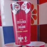 Vaso Coca Cola Mundial Brasil 2014 Costa Rica- Inglaterra