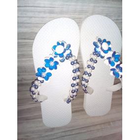 Chinelo Feminino Tipo Havaiana Sandália Customizada Stras