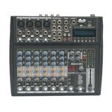 Consola De Sonido 8 Canales Con Usb Y Efectos Gbr Md-855 Mp3