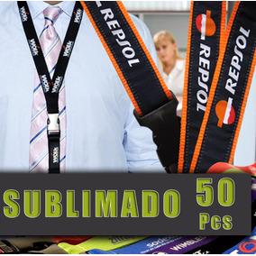 Lanyard Personalizado Porta Gafete Sublimado 50 Unidades