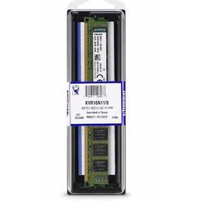 Memoria Ram De 8gb Kingston 1600 Mhz Ddr3 Kvr16n11/8