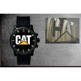 Relógio De Pulso Personalizado Logo Cat Maquinas Agro