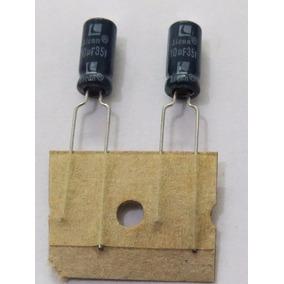 Cap. Eletrolítico 10uf 35v Kit C/ 50 Pçs