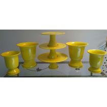 Kit C/ 3 Doceiras + 4 Vasos Tulipa 2 Mini E 2 P