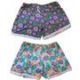 Shorts Con Puntilla Estampados.talles Especiales.liquidacion