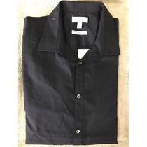 Camisa Calvin Klein Infinite Cool Manga Larga Color Negro -e