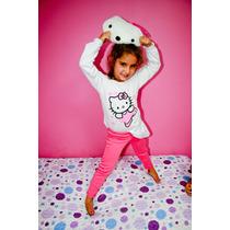 Pijama Kitty Nena Invierno Con Almohadon De Regalo!!!