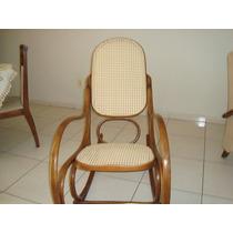 Cadeira De Balanço De Palhinha Tipo Austríaca