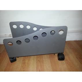 Porta Cpu Ajustable De Metal Con Ruedas