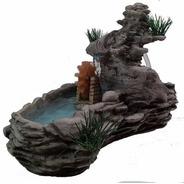 Fonte Agua Decorativa Laguinho Pedra Com Rodinha 127volts