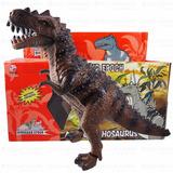 Dinossauro T-rex Anda Emite Som E Acende Luz