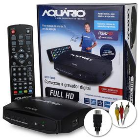 Conversor Digital Tv Aquario Dtv-7000 4g Hdmi Rca Gravador