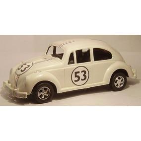 Vw Escarabajo Herbie Cupido Motorizado Autito Antiguo Juguet