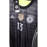 Camiseta Alemania Gris Roja Negra Importada Arquero Campeon