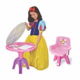 Mesa Infantil Para Estudo Princesas Disney Menina Lider