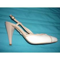 Zapatillas Color Nude Con Blanco